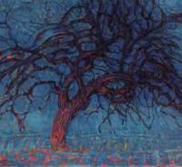 Mondrian_albero_rosso